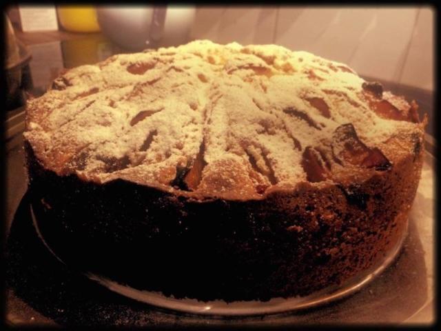 Omas Einfacher Pflaumen Apfel Kuchen Rezept