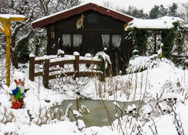 Gartenarbeit im Winter